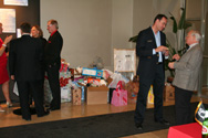 Food and Toy donations brought to the party